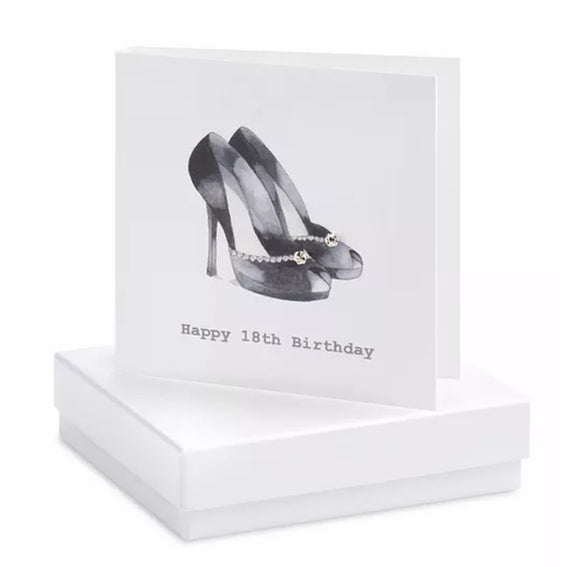 18th Shoe Boxed Earring Card