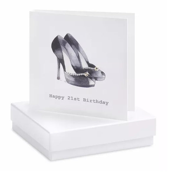 21st Shoe Boxed Earring Card