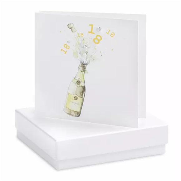 Boxed Earring Card 18th Champagne