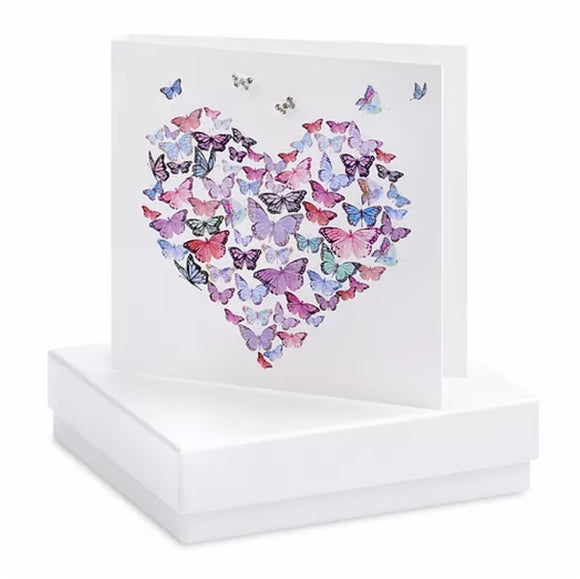 Boxed Earring Card Butterfly