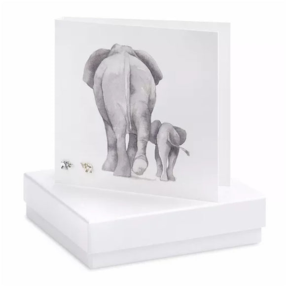 Boxed Earring Card Elephant