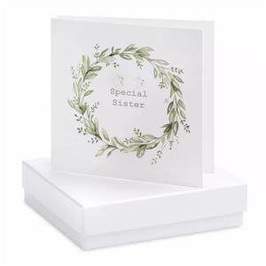 Boxed Earring Card sister