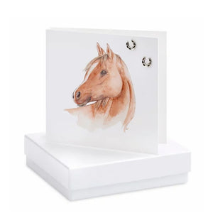 Boxed Earring Card Horse