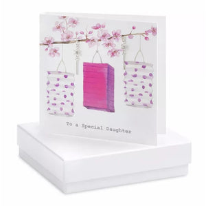 Boxed Earring Card Daughter