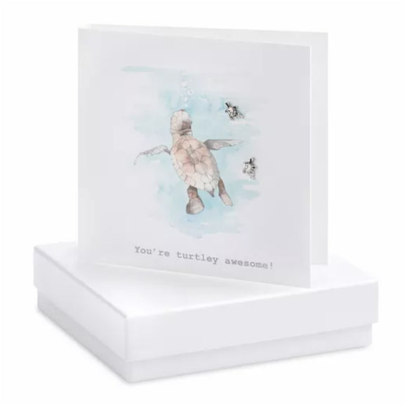 Boxed Earring Card Turtle