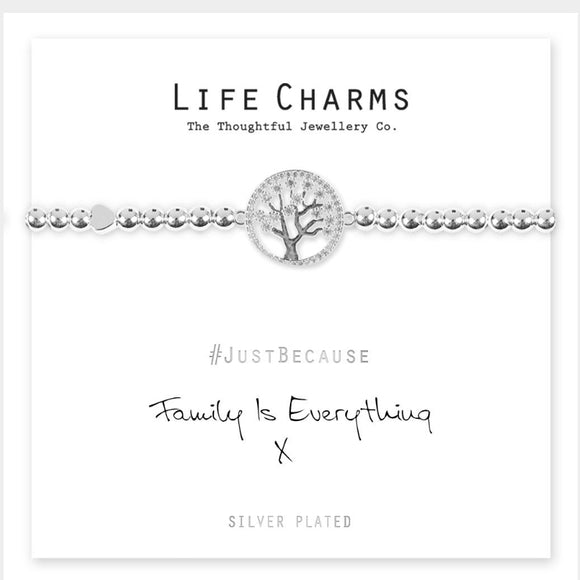 Life Charms Bracelet - Family is everything
