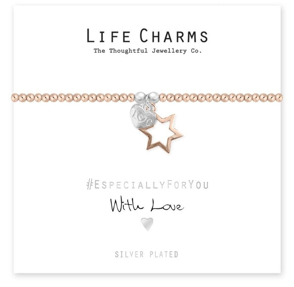 Life Charms Bracelet-With love Star