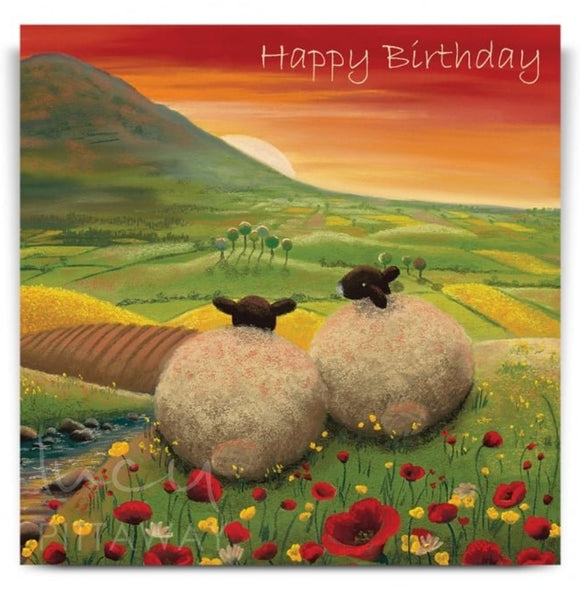 Lucy Pittaway Red Dawn Birthday Card
