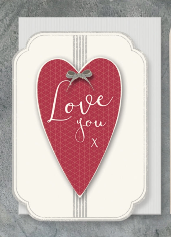 Valentines/Anniversary Card Love You by East of India