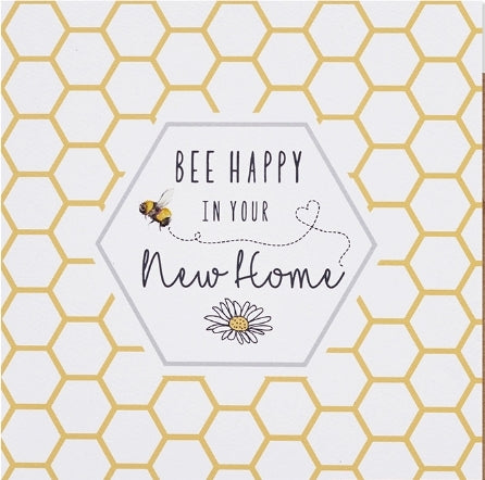 BEE HAPPY NEW HOME CARD