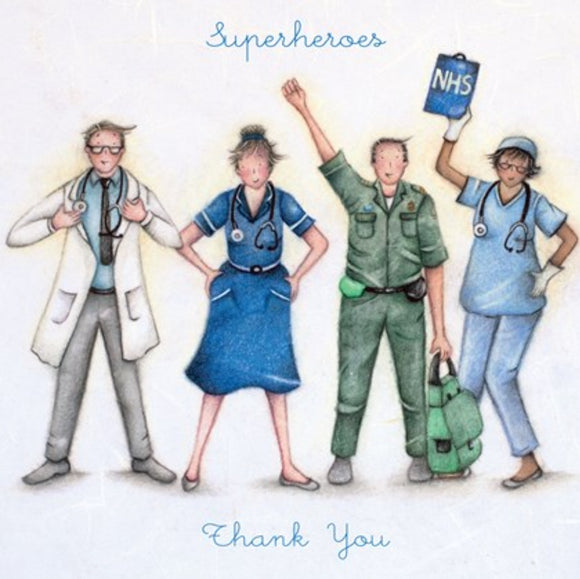 Berni Parker NHS Superheroes Thank you card Free!!