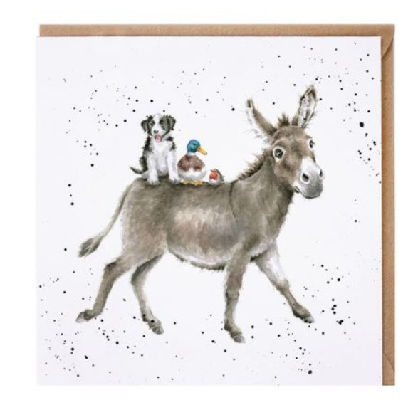 'The Donkey Ride' card  By Wrendale