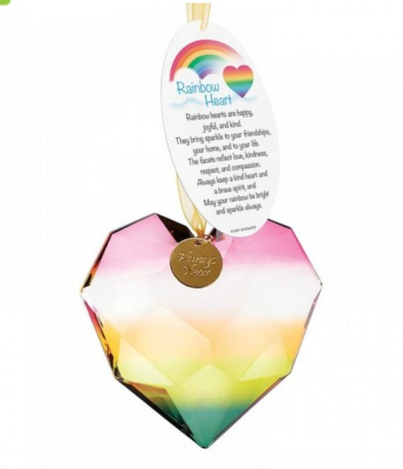 Rainbow Acrylic Heart Hanging Ornament