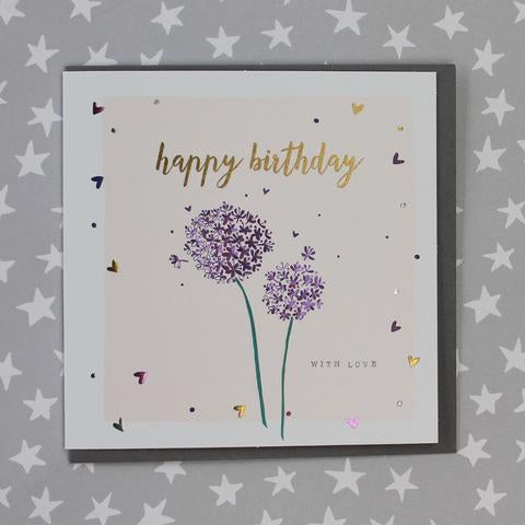 Alliums Birthday Card by Molly Mae