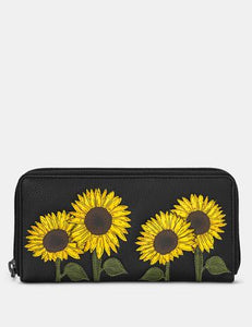 Sunflowers Baxter Leather Purse by Yoshi