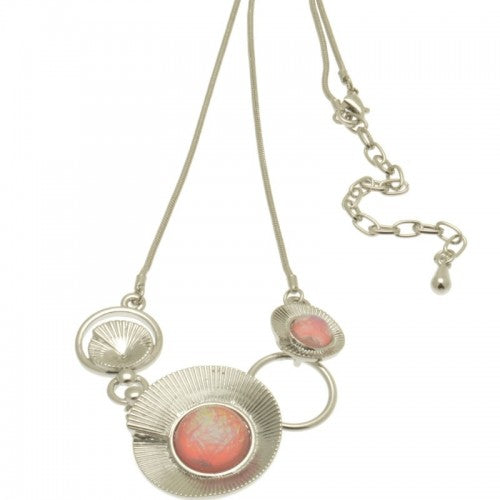 Miss Milly PEACH AMMONITE NECKLACE