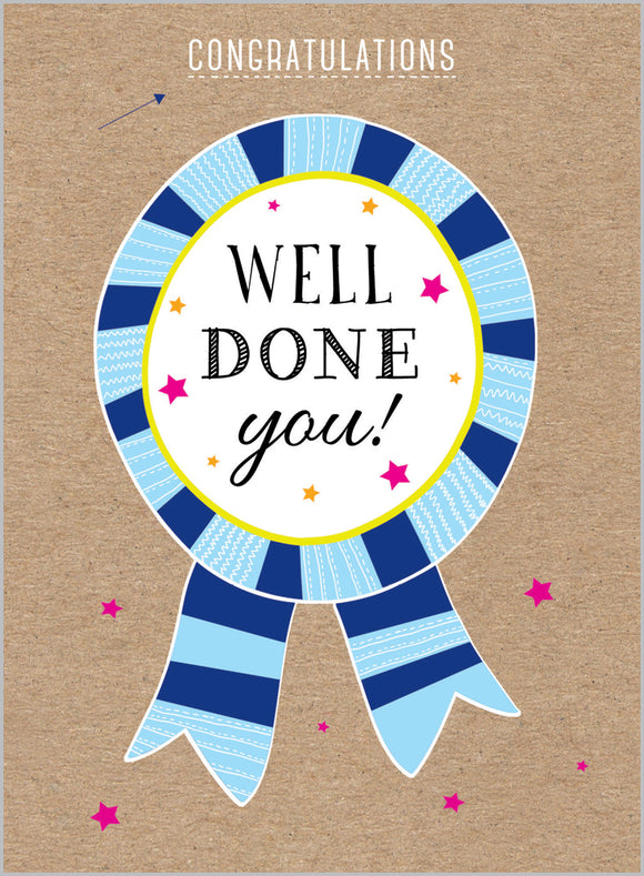 Congratulations - Well Done You Rosette