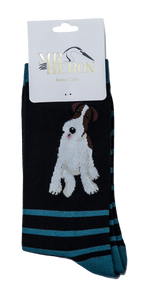 Mens Bamboo Mix Socks Fox Terrier