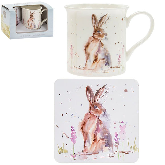 Country Life Mug Coaster Hare