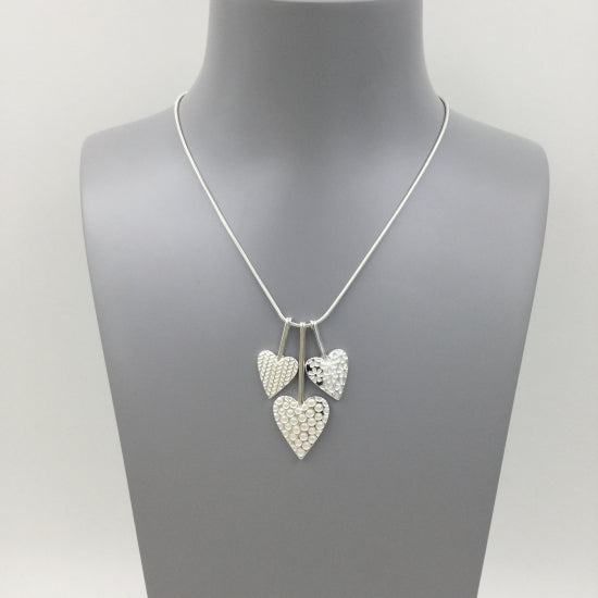 Trio of Heart Necklace