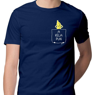 T-SHIRTS S / NAVY BLUE Akelapun T-Shirt For Men FRYING PUN