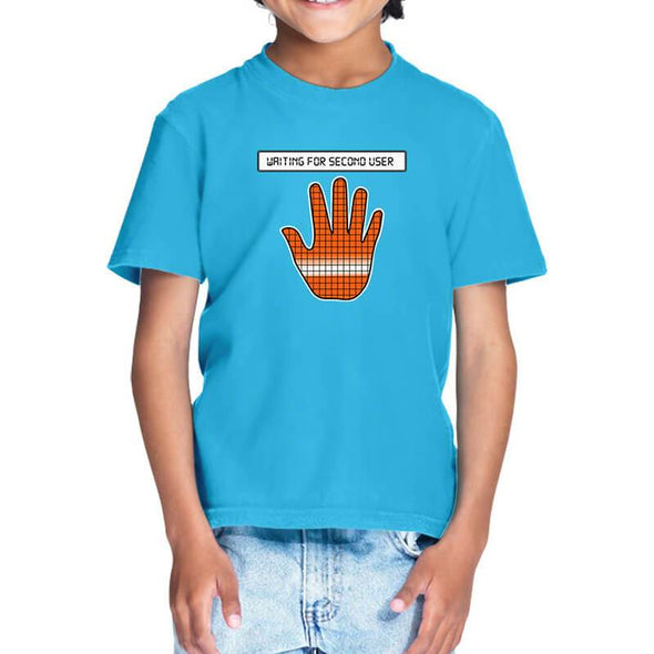 T-SHIRTS 1 / SKY BLUE Among Us - Reactor Meltdown Hand T-Shirt For Kids FRYING PUN