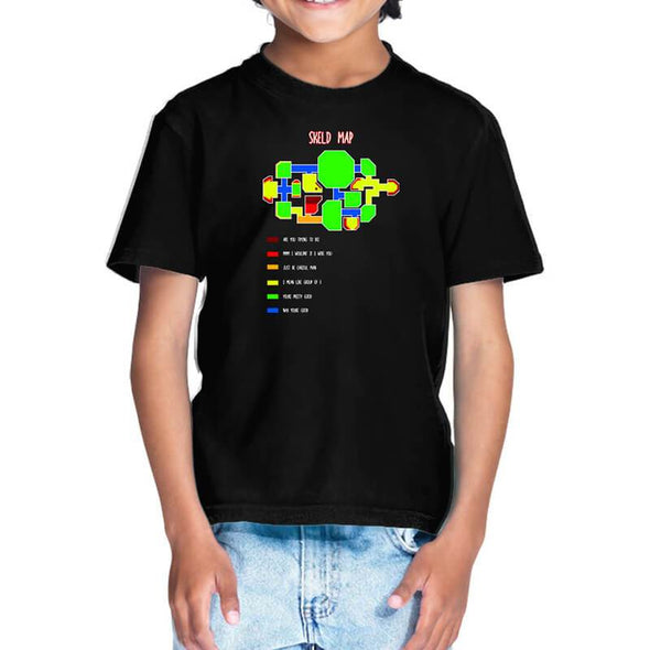 T-SHIRTS 1 / BLACK Among Us - Skeld Heat Map T-Shirt For Kids FRYING PUN