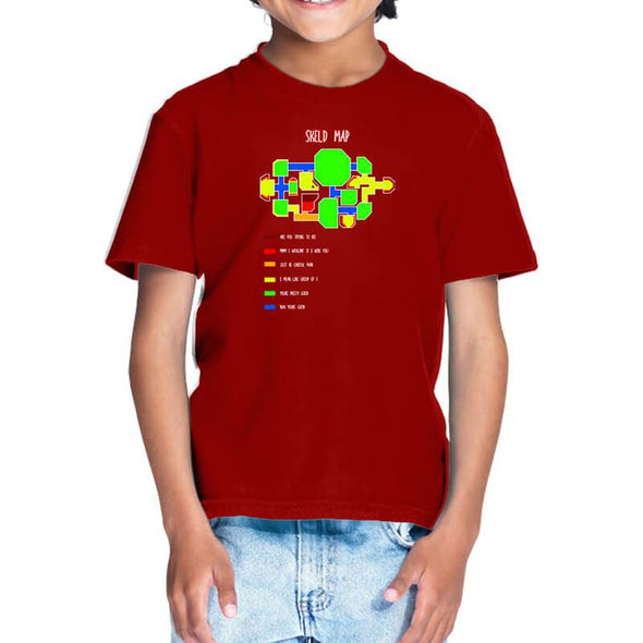 T-SHIRTS 1 / RED Among Us - Skeld Heat Map T-Shirt For Kids FRYING PUN