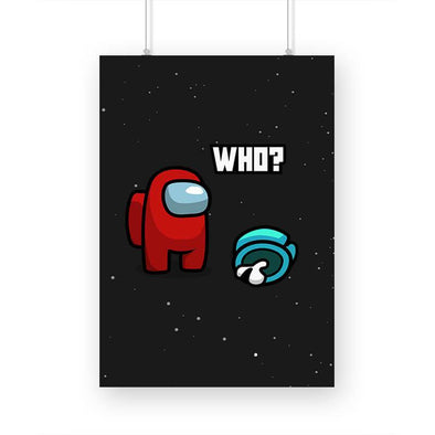 POSTERS A3 Among Us - Who? Poster FRYING PUN
