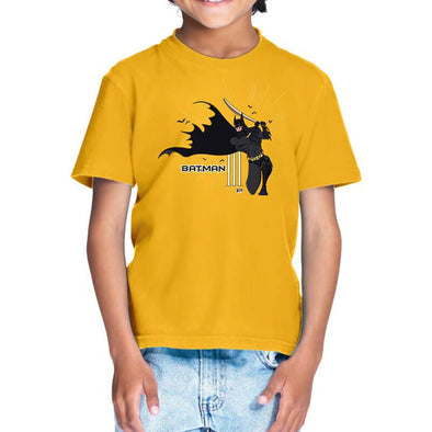 T-SHIRTS 1 / GOLDEN YELLOW Batsman T-Shirt For Kids FRYING PUN