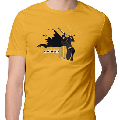 T-SHIRTS S / YELLOW Batsman T-Shirt For Men FRYING PUN