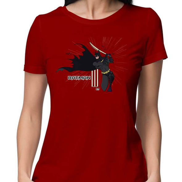 T-SHIRTS XS / RED Batsman T-Shirt For Women FRYING PUN