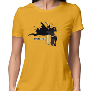 T-SHIRTS XS / YELLOW Batsman T-Shirt For Women FRYING PUN