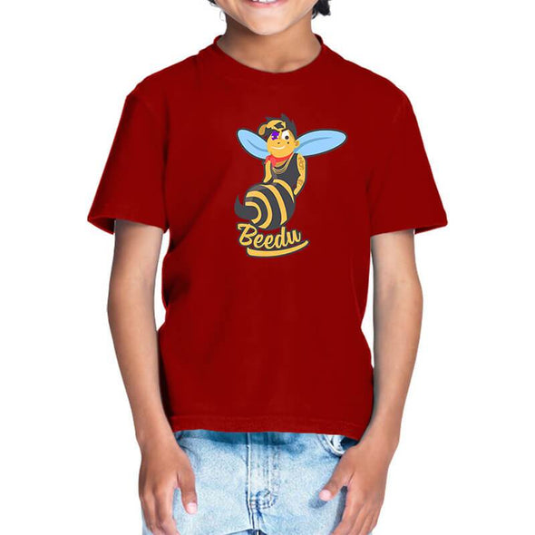 T-SHIRTS 1 / RED Beedu T-Shirt For Kids FRYING PUN