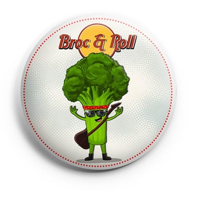 BUTTON BADGES PATTERNED Broc & Roll Button Badge