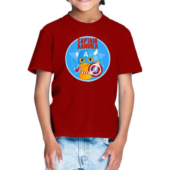 T-SHIRTS 1 / RED Captain Aamrica T-Shirt For Kids FRYING PUN