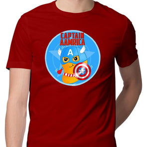 T-SHIRTS Captain Aamrica T-Shirt For Men FRYING PUN