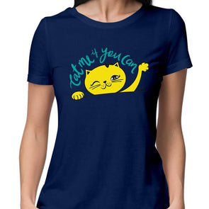 T-SHIRTS Cat Me If You Can T-Shirt For Women FRYING PUN