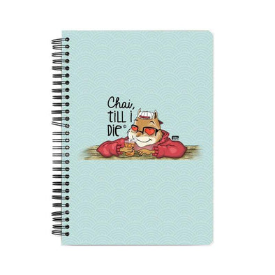 NOTEBOOKS Chai Till I Die Notebook FRYING PUN