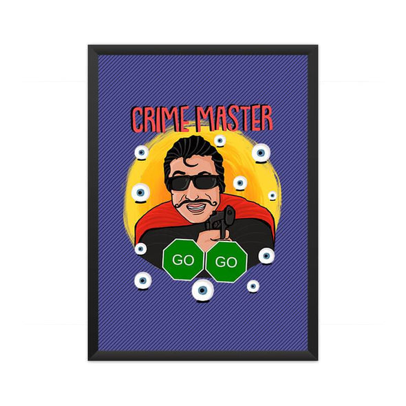 POSTERS A3 FRAMED Crime Master Go Go Poster FRYING PUN