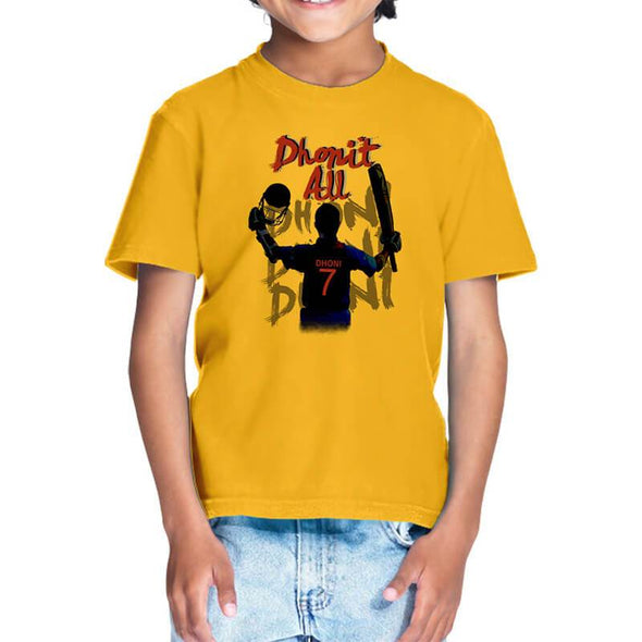 T-SHIRTS 1 / GOLDEN YELLOW Dhonit All T-Shirt For Kids FRYING PUN