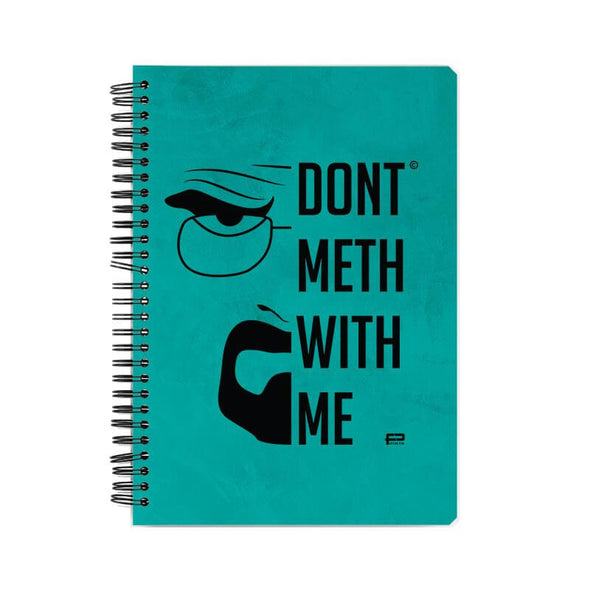NOTEBOOKS Don't Meth With Me Notebook FRYING PUN
