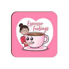COASTERS Espresso Feelings Coaster
