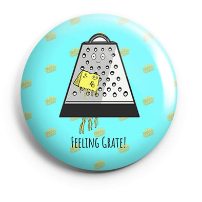 BUTTON BADGES PATTERNED Feeling Grate Button Badge