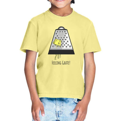 T-SHIRTS 1 / BUTTER YELLOW Feeling Grate T-Shirt For Kids FRYING PUN