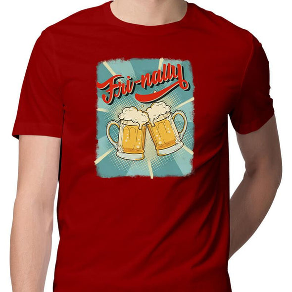 T-SHIRTS S / RED Fri-nally T-Shirt For Men FRYING PUN
