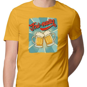 T-SHIRTS S / YELLOW Fri-nally T-Shirt For Men FRYING PUN
