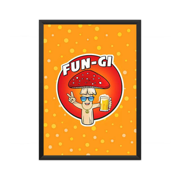 POSTERS A3 FRAMED Fun-gi Poster FRYING PUN