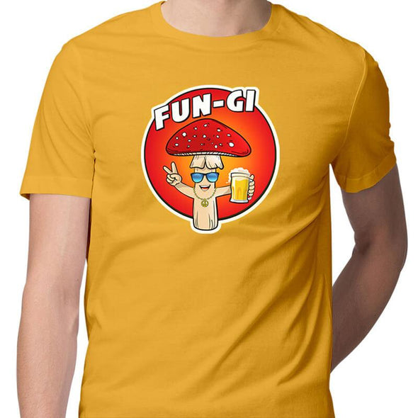T-SHIRTS S / YELLOW Fun-gi T-Shirt For Men FRYING PUN