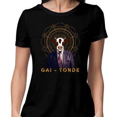 T-SHIRTS XS / BLACK Gai-tonde T-Shirt For Women FRYING PUN